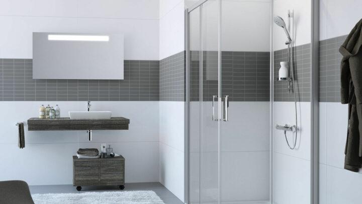 Гидроизоляция ванной комнаты с применением  обмазочной полимерцементной гидроизоляции Аквамат (AQUAMAT).